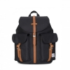 Herschel Dawson Backpack | XS - Black/Tan Synthetic Leather