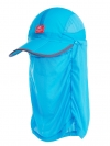 Nature Hike   Folding Quick-Dry Cap with Protective Breathable Mesh (Light Blue)