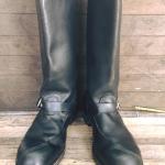 Harley Davidson Engineer boot หัวเหล็ก USA ตัวเก่า ปีลึก ป้ายข้างหาย size 11.5 ราคา 2500