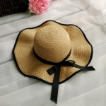 หมวกทรงWide brim สีกาแฟ ONE SIZE