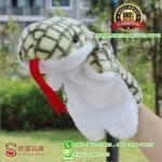 ตุ๊กตาหุ่นมือ งู สีเขียว