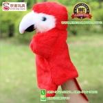 ตุ๊กตาหุ่นมือ นก สีแดง