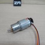 DC 12V Geared Motor + Encoder Motors 125RPM High Torque Gear Box