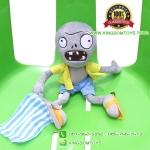 ตุ๊กตา ซอมบี้ถือธงฟ้า 30 CM [Plants vs. Zombie 2]