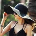 หมวกทรงWide brim สีดำ ONE SIZE