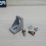 Bracket D 28 สำหรับอลูมิเนียมโปรไฟล์ 2020 พร้อมชุดน็อตสกรู T-Nut M5