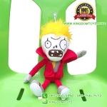 ตุ๊กตา ซอมบี้ผมเหลืองชุดแดง 30 CM [Plants vs. Zombie 2]