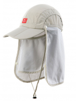 Nature Hike | Sun Shading Quick Dry Folding Cap with protective face mask (Khaki)