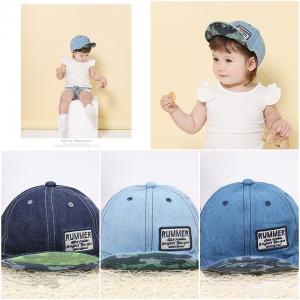 Baby Touch หมวกเด็ก พรีเมี่ยม แก๊ปยีนส์ ลายทหาร (Hat - ABB)