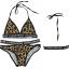 [พร้อมส่ง]ชุดว่ายน้ำบิกินี่ทูพีช ลายเสือ ขอบตัวอักษรภาษาอังกฤษ เซ็กซี่มากๆ thumbnail 6