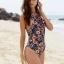 พร้อมส่ง ชุดว่ายน้ำวันพีช เป็นแบบสวม พื้นสีดำลายดอกไม้ ไซส์ (S M) thumbnail 2