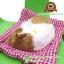 ตุ๊กตาแมวนอนหลับ สีขาวเหลือง [เบาะแดง] 19x24 CM thumbnail 4