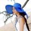 หมวกทรงWide brim สีน้ำเงิน ONE SIZE thumbnail 1