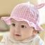 Baby Touch หมวกปีกรอบ ลายสก็อต มีหู (Hat - DE) thumbnail 3