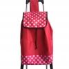 กระเป๋าล้อลากพร้อมเก้าอี้ ลายจุด-สีแดง