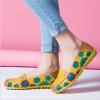 SK02 รองเท้าหนังนิ่ม (หนังวัว) ลายดอกไม้ใหญ่ Size 44
