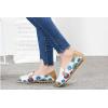 SK12 รองเท้าหนังนิ่ม (หนังวัว) ลายดอกไม้ใหญ่ Size 35