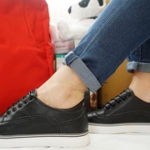 รองเท้าสไตล์เกาหลี Loafer ผูกเชือก Size 35