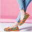 SK02 รองเท้าหนังนิ่ม (หนังวัว) ลายดอกไม้ใหญ่ Size 39