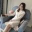 ชุดเดรสลูกไม้ ชุดผ้าลูกไม้สวยๆ น่ารัก แฟชั่นเกาหลี สีขาว แขนยาว ใส่ออกงานชิคๆ