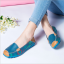 SK02 รองเท้าหนังนิ่ม (หนังวัว) ลายดอกไม้ใหญ่ Size 43