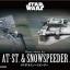 15632 Vehicle Model 008《STARWARS》AT-ST & Snowspeeder Set 600Yen