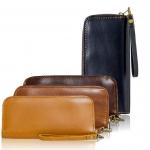 กระเป๋าสตางค์หนังวัวแท้(CCO) ทรงยาวซิปรอบ สำหรับเก็บธนบัตร และการ์ด เหมาะสำหรับผู้ชายและหญิง