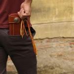 กระเป๋าสตางค์หนังแท้ ทรงยาว แนวBilker + วินเทจ สำหรับผู้ชาย