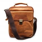กระเป๋าแมสเซนเจอร์หนังแท้ สะพายไหล่ และมีหูหิ้วสำหรับถือ