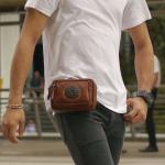 กระเป๋าร้อยเข็มขัด ขนาด 7 นิ้ว สำหรับใส่ โทรศัพท์ พาร์สปอต กระเป๋าสตางค์ (สีน้ำตาล)