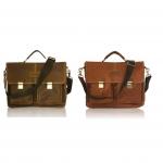 กระเป๋าสะพายข้างและถือหนังแท้ กระเป๋าเอกสารแฟ้มขนาดA4