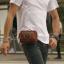กระเป๋าร้อยเข็มขัด ขนาด 7 นิ้ว สำหรับใส่ โทรศัพท์ พาร์สปอต กระเป๋าสตางค์ (สีน้ำตาล) thumbnail 1