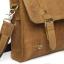 กระเป๋าสะพายไหล่, กระเป๋าถือ, กระเป๋าเอกสารขนาด A4 หนังนูบัค Crazy Horse thumbnail 4