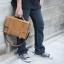 กระเป๋าสะพายไหล่, กระเป๋าถือ, กระเป๋าเอกสารขนาด A4 หนังนูบัค Crazy Horse thumbnail 6