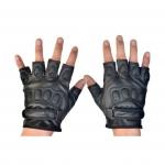 ถุงมือขับมอเตอร์ไซด์ ถุงมืออกกำลังกายฟิตเนต ถุงมือปั่นจักรยาน ถุงมือปีนเขา ถุงมือผู้ชาย ขนาดฟรีไซด์ { สีดำ }