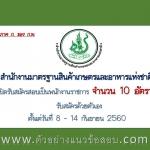 สำนักงานมาตรฐานสินค้าเกษตรและอาหารแห่งชาติ เปิดรับสมัครสอบเป็นพนักงานราชการ จำนวน 10 อัตรา ตั้งแต่วันที่ 8 - 14 กันยายน 2560