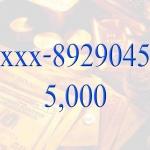Sold out เบอร์มหาโชค xxx-8929045