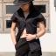 เสื้อเชิ้ตแขนสั้น สีดำ Size M