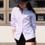เสื้อเชิ้ตคอจีน แขนยาว สีขาว Size S