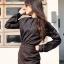 เสื้อเชิ้ตคอจีน แขนยาว สีดำ Size XL