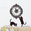 นาฬิกาพร้อมสติกเกอร์ แมวน้อยโบว์แดง CD880