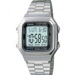 นาฬิกา CASIO ดิจิตอล สีเงินสายสแตนเลส รุ่น A178WA-1 STANDARD DIGITAL RETRO CLASSIC ของแท้ รับประกันศูนย์ 1 ปี