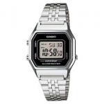 นาฬิกา CASIO ดิจิตอล สีเงินสายสแตนเลส รุ่น LA680WA-1A STANDARD DIGITAL RETRO CLASSIC ของแท้ รับประกันศูนย์ 1 ปี