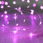 ไฟแฟรี่ ไฟลวด LED ตกแต่ง หักงอได้ ยาว 2 เมตร สีชมพู