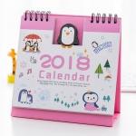 ปฏิทินตั้งโต๊ะลายการ์ตูน 2018 #นกเพนกวิน