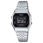 นาฬิกา CASIO ดิจิตอล สีเงินสายสแตนเลส รุ่น LA680WA-1B STANDARD DIGITAL RETRO CLASSIC ของแท้ รับประกันศูนย์ 1 ปี