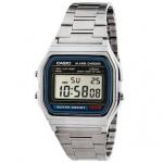 นาฬิกา CASIO ดิจิตอล สีเงินสายสแตนเลส รุ่น A158WA-1 STANDARD DIGITAL RETRO CLASSIC ของแท้ รับประกันศูนย์ 1 ปี