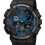 นาฬิกา CASIO G-SHOCK STANDARD ANALOG-DIGITAL รุ่น GA-100-1A2 SERIES GA-100 Three-Eye Dial ของแท้ รับประกัน 1 ปี