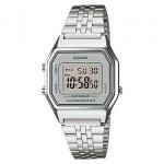 นาฬิกา CASIO ดิจิตอล สีเงินสายสแตนเลส รุ่น LA680WA-7 STANDARD DIGITAL RETRO CLASSIC ของแท้ รับประกันศูนย์ 1 ปี