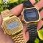นาฬิกา CASIO ดิจิตอล สีดำทอง รุ่น A168WEGB-1B STANDARD DIGITAL ของแท้ รับประกันศูนย์ 1 ปี thumbnail 3